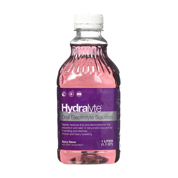 Hydralyte Oral Electrolyte Solution Berry Flavor, 33.8 Oz
