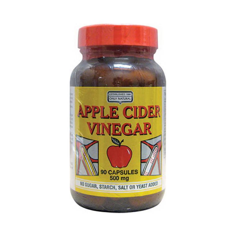 Only Natural Apple Cider Vinegar Capsules, 500 Mg - 90 Ea
