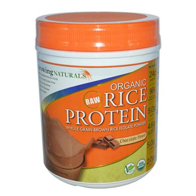 Growing Naturals Organic Rice Protien, Chocolate Power - 16.8 Oz