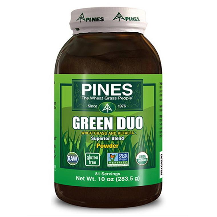 Pines Wheat Grass Green Duo Organic Superior Blend Powder - 10 Oz