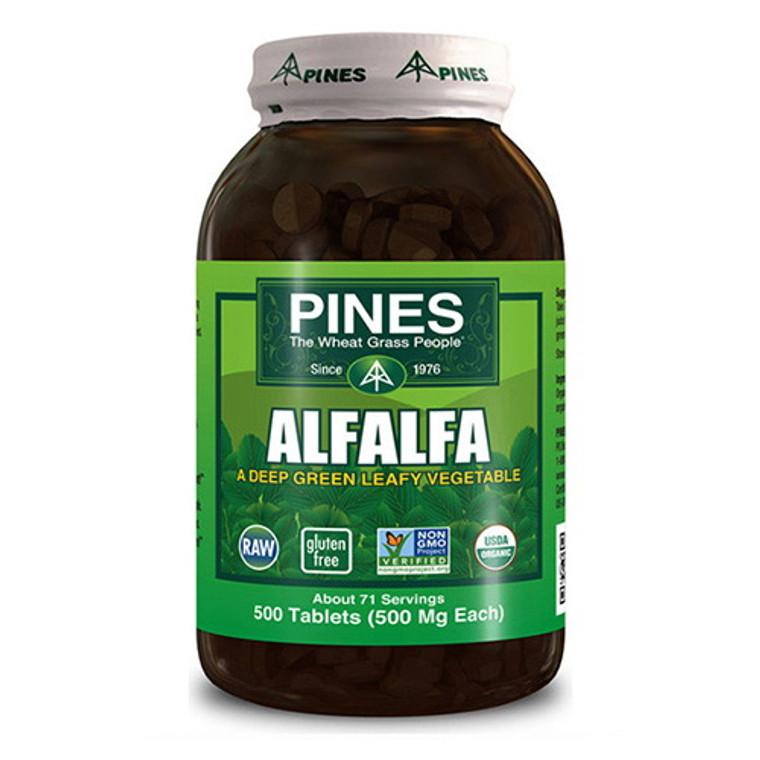 Pines Deep Green Leafy 500 Mg Alfafa Tablets - 500 Ea