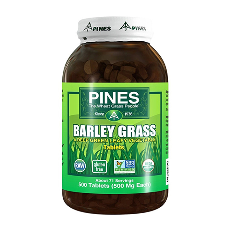 Pines Barley Grass Green Leafy 500 Mg Vegetable Tablets, 500 Ea