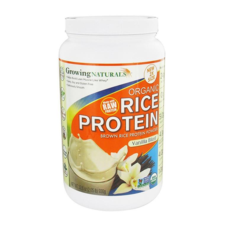 Growing Naturals Organic Rice Protein Powder, Vanilla Blast, 32.8 Oz
