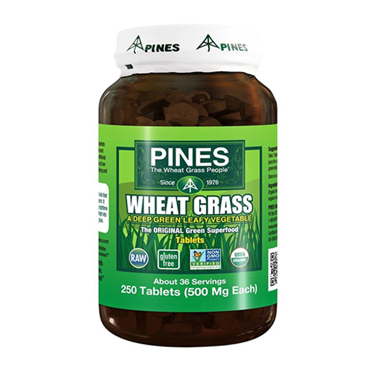 Pines Wheat Grass 500 Mg Tablets, 250 Ea