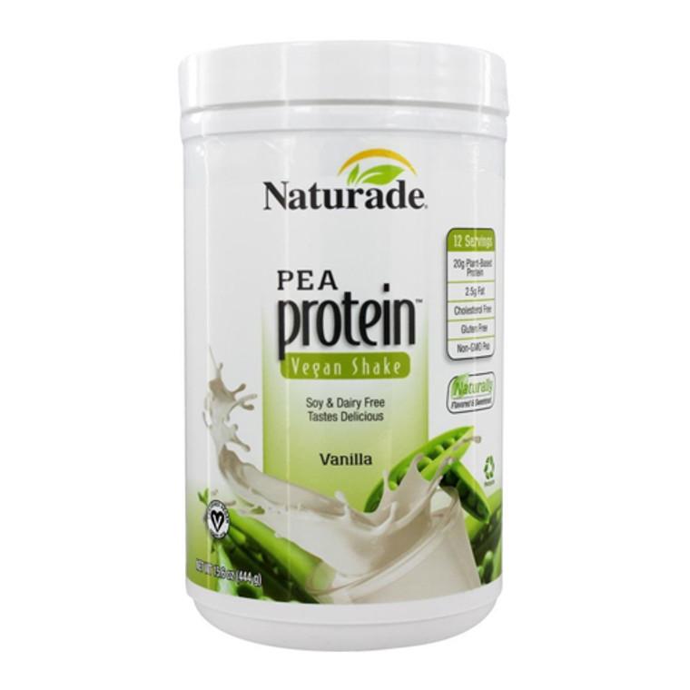 Naturade Pea Protein Powder Vegan Shake Vanilla, 15.6 Oz