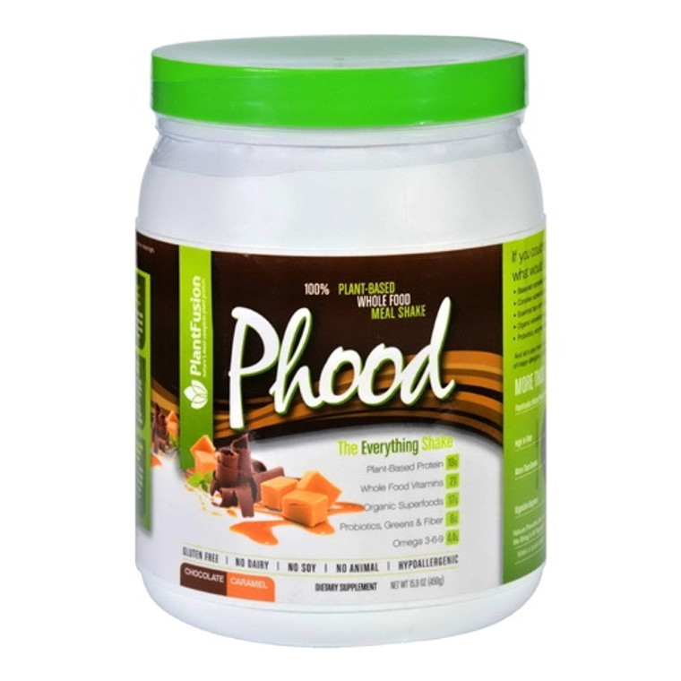 PlantFusion Phood 100% Whole Food Meal Shake Chocolate Caramel, 15.9 oz