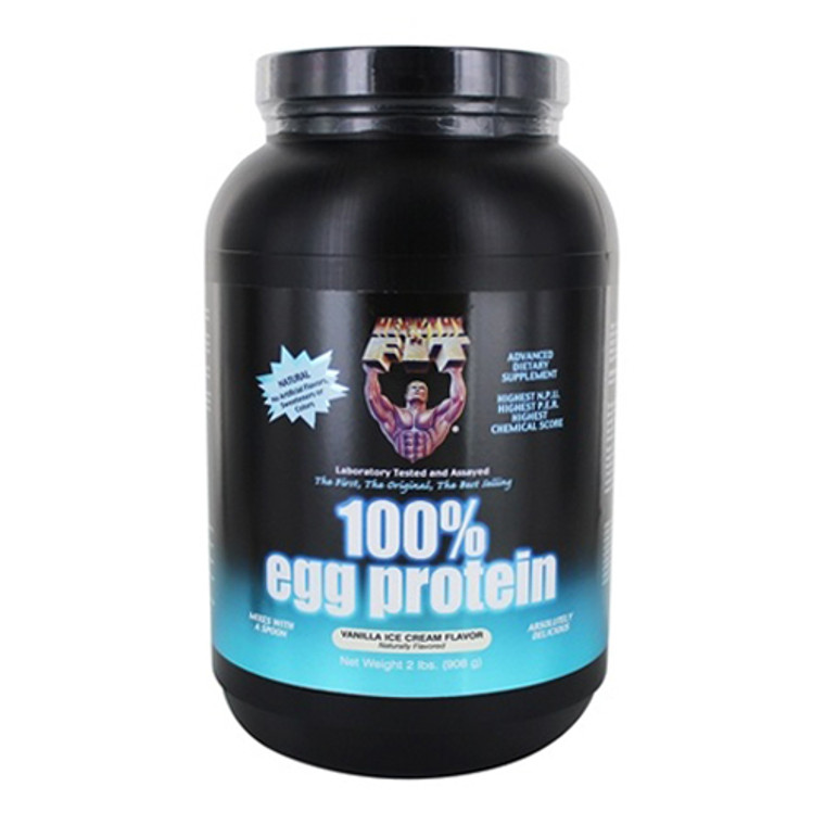 Healthy N Fit 100% Egg Protein Supplement Powder, Vanilla Ice Cream, 2 Lbs
