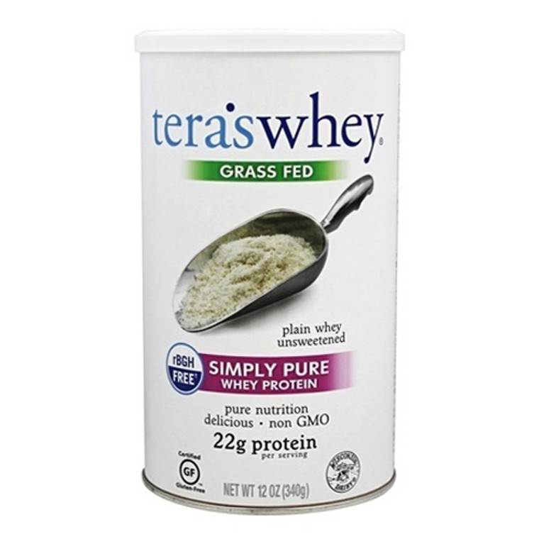 Teras Whey Grass Fed Simply Pure Whey Protein Powder, Unsweetened, 12 Oz