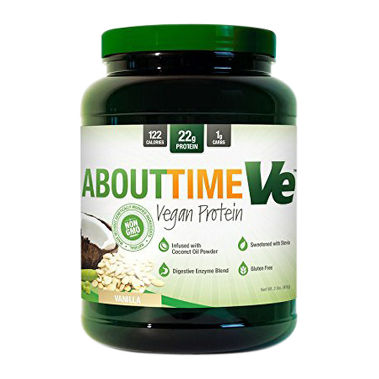 About Time Ve Vegan Protein Powder, Vanilla, 2 Lbs