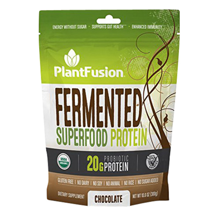 Plantfusion Fermented Superfood Protein Powder, Chocolate, 10.6 Oz