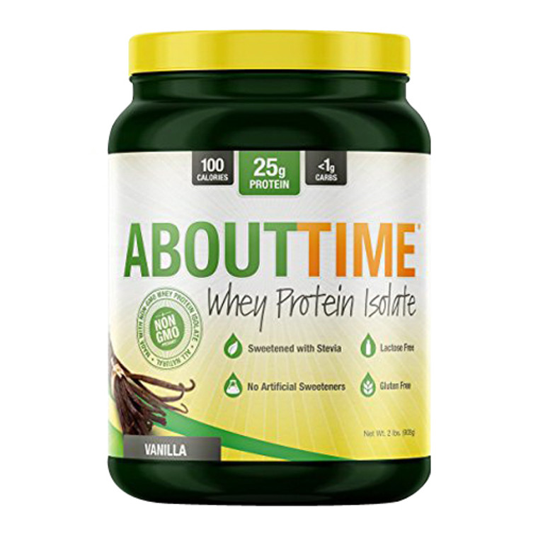 About Time Vanilla Whey Protein Isolate Powder, 2 Lb