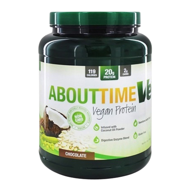 About Time Ve Vegan Protein Supplement Powder, Chocolate, 2 Lbs