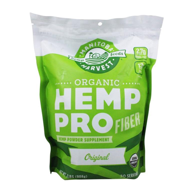 Manitoba Harvest Organic Hemp Pro Fiber Plus Plant Based Protein Supplement Powder, 32 Oz
