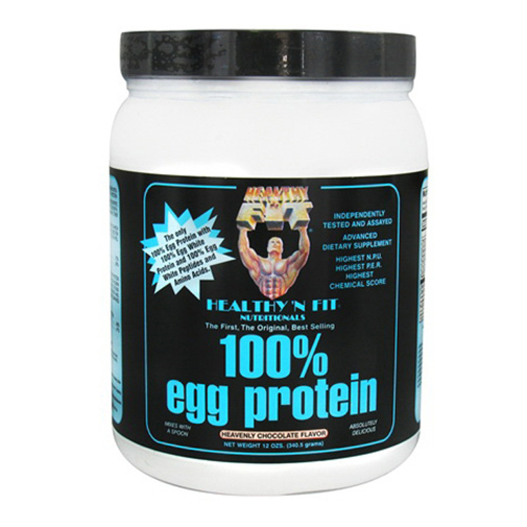 Healthy N Fit 100% Egg Protein Heavenly Chocolate Supplement Powder, 12 Oz