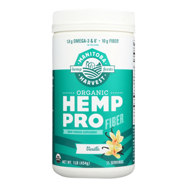 Manitoba Harvest Organic Hemp Protein Supplement Vanilla, 16 Oz