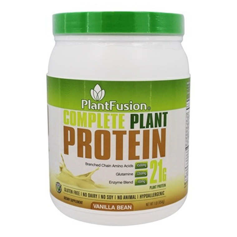 PlantFusion Complete Plant Protein Powder Vanilla Bean, 1 Lb