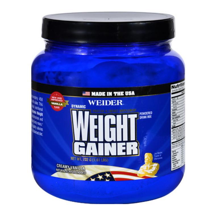 Weider Nutrition Weight Gainer Creamy Vanilla Dynamic Powder 1.61 Lb
