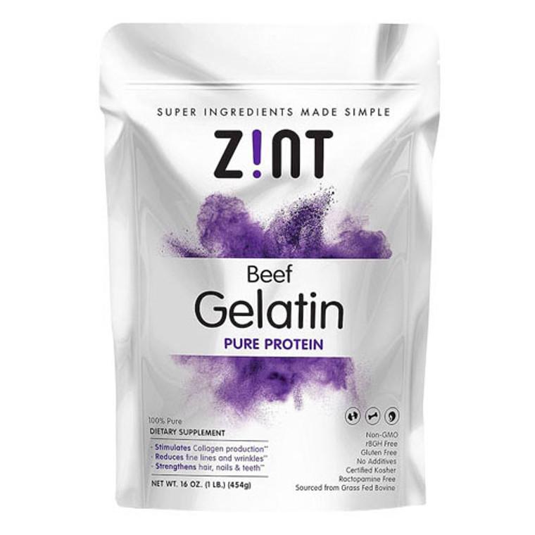 Zint Beef Gelatin Pure Protein, 16 Oz
