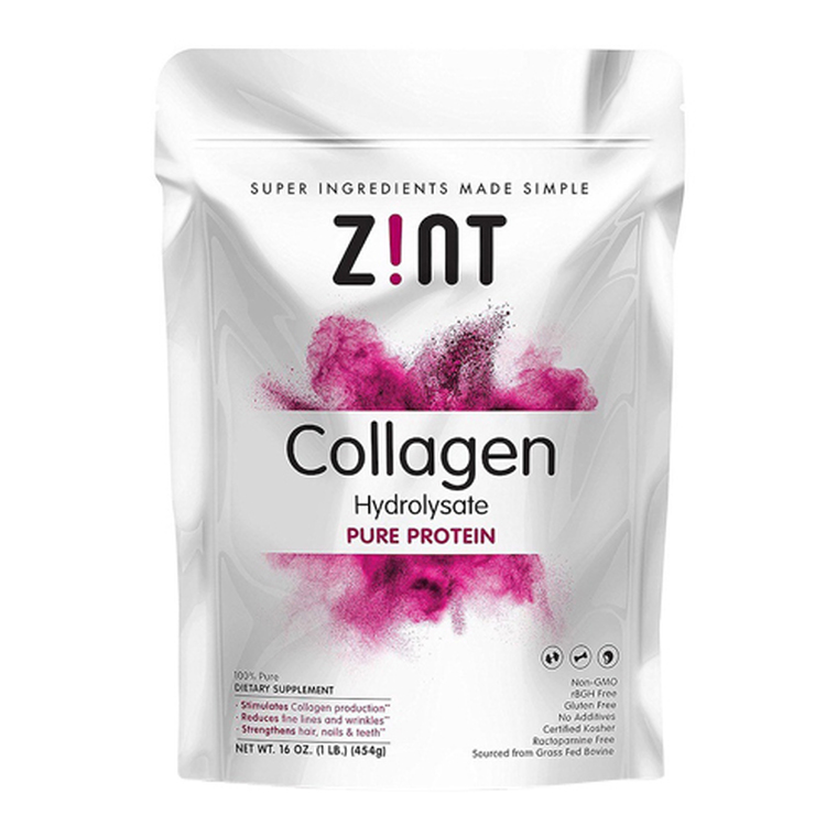 Zint Hydrolysate Pure Protein Powder Collagen, 16 Oz