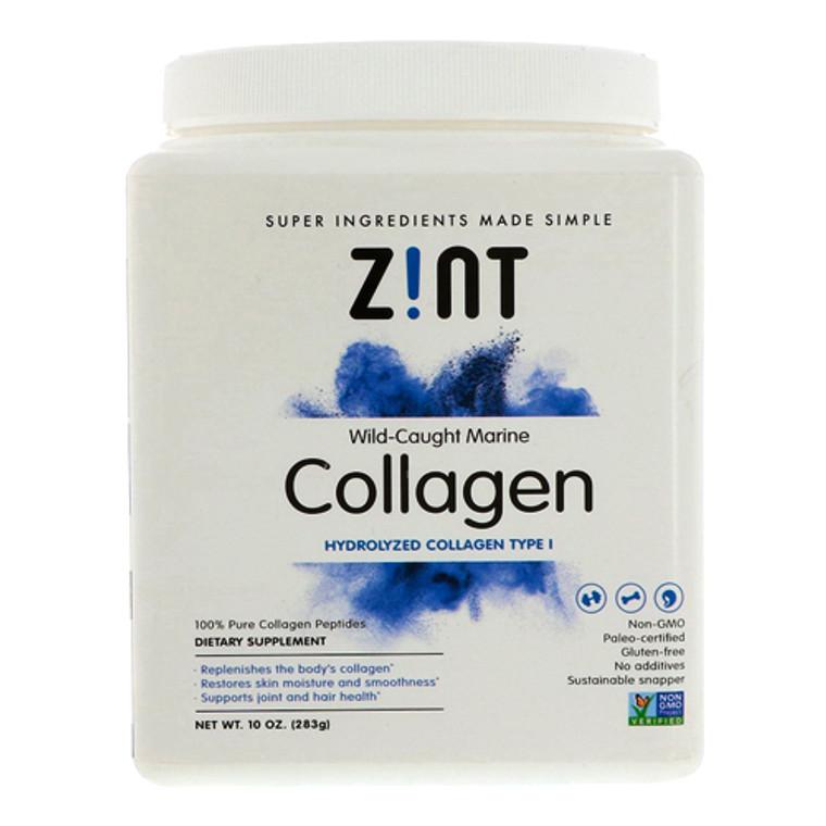 Zint Hydrolyzed Wild Caught Marine Collagen Peptides Protein Supplement, 10 Oz