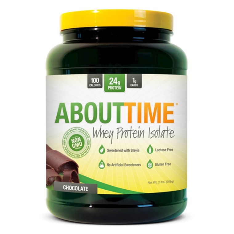 About Time Whey Isolate Protein Powder Chocolate, 2 Lb
