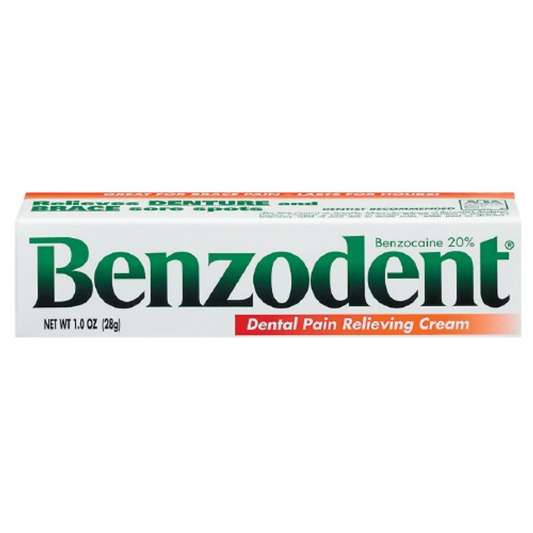Benzodent Dental Pain Relieving Cream, 1 Oz