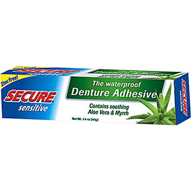 Bioforce A.Vogel Secure Sensitive Waterproof Denture Adhesive, Zinc Free, 1.4 Oz