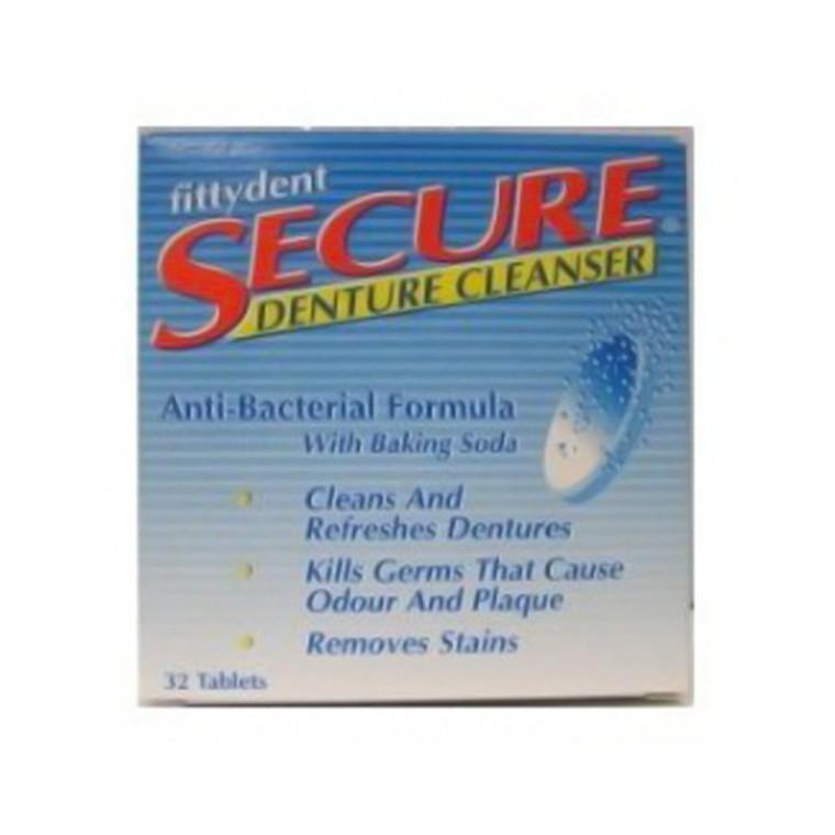 Secure Denture Cleanser Tablets - 32 Ea