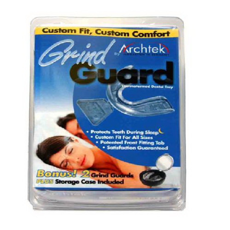 Grind Guard Dental Tray With 3 Inches Mirrored Case By Archtek - 1 Ea