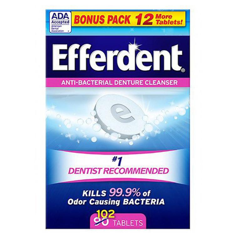 Efferdent Anti-Bacterial Denture Cleanser Tablets - 102 ea