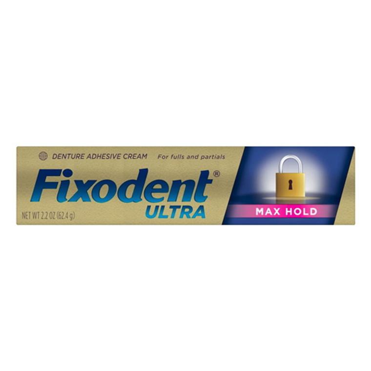 Fixodent Ultra Max Hold Dental Adhesive Cream, 2.2 Oz