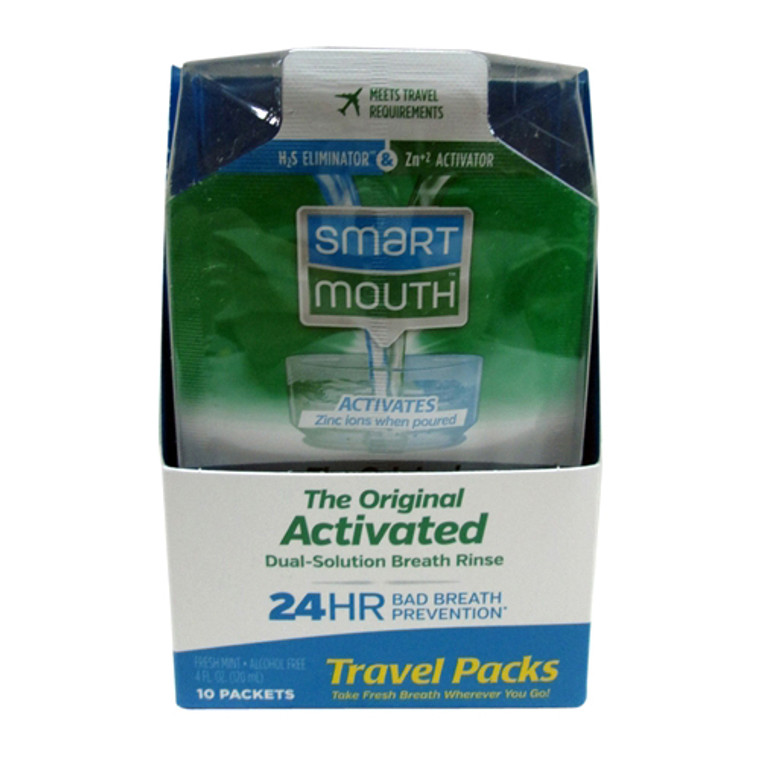 Smartmouth 24 Hours Original Mouthwash Packets, Fresh Breath - 10 Ea