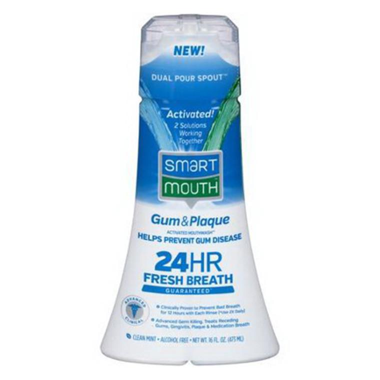 SmartMouth Gum and Plaque Activated Mouthwash, Clean Mint, 16 oz