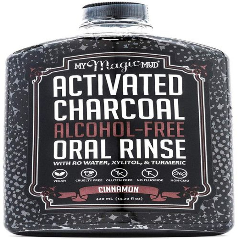 My Magic Mud Activated Charcoal Alcohol Free Oral Rinse Cinnamon, 14.2 Oz