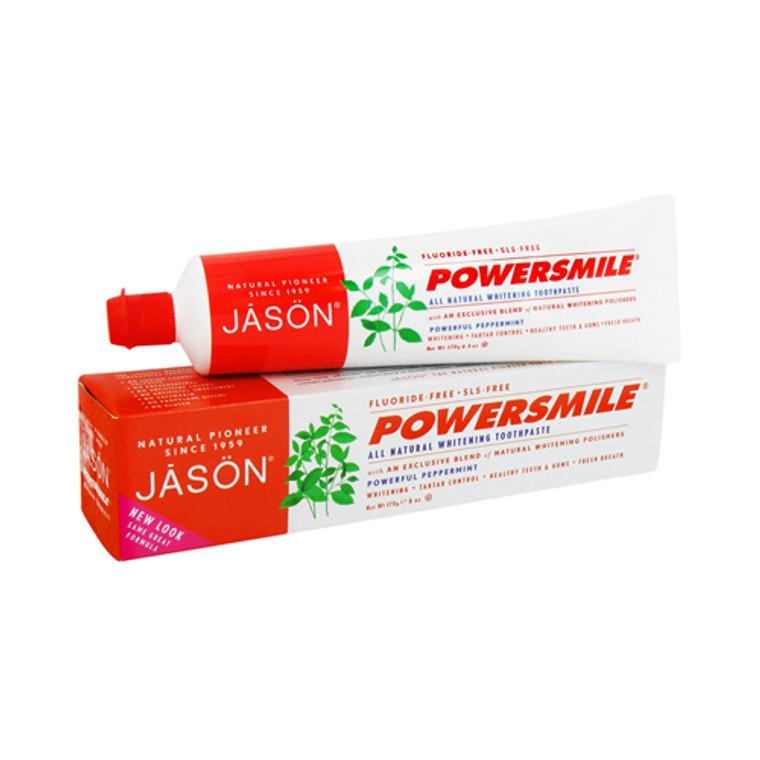 Jason Natural Powersmile Whitening Toothpaste, Peppermint - 6 Oz