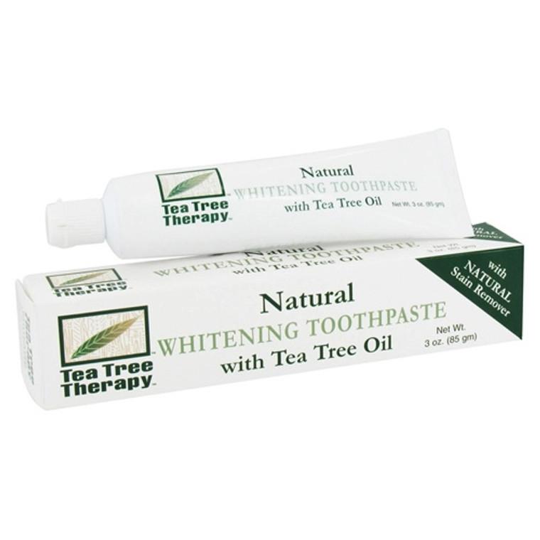 Tea Tree Therapy Whitening Toothpaste, With Tea Tree Oil - 3 Oz