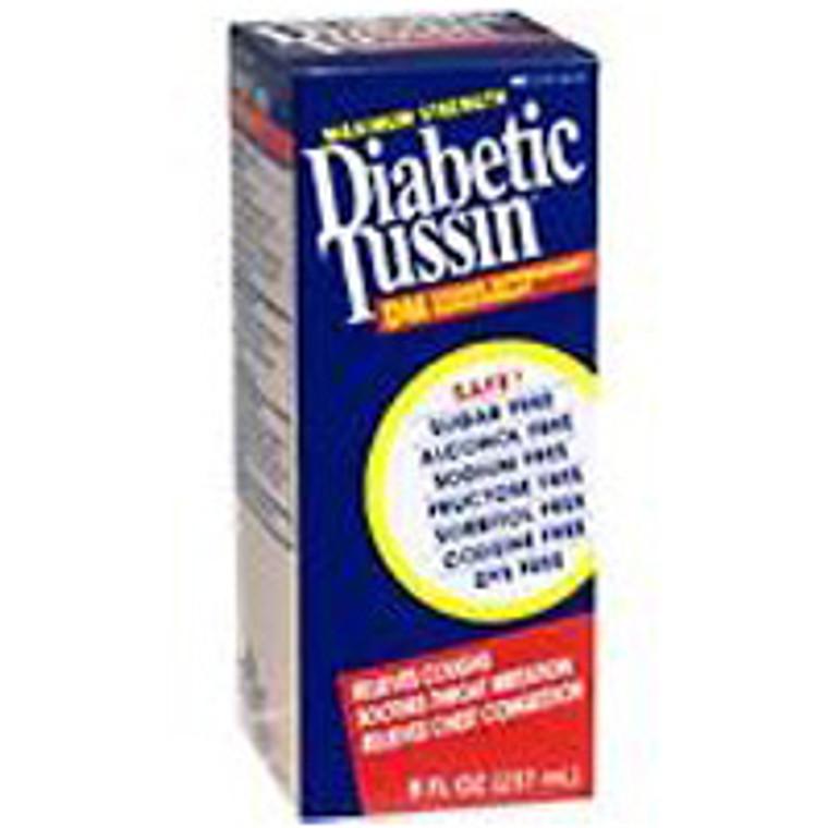 Diabetic Tussin Dm Cough Suppressant/Expectorant Maximum Strength - 8 Oz