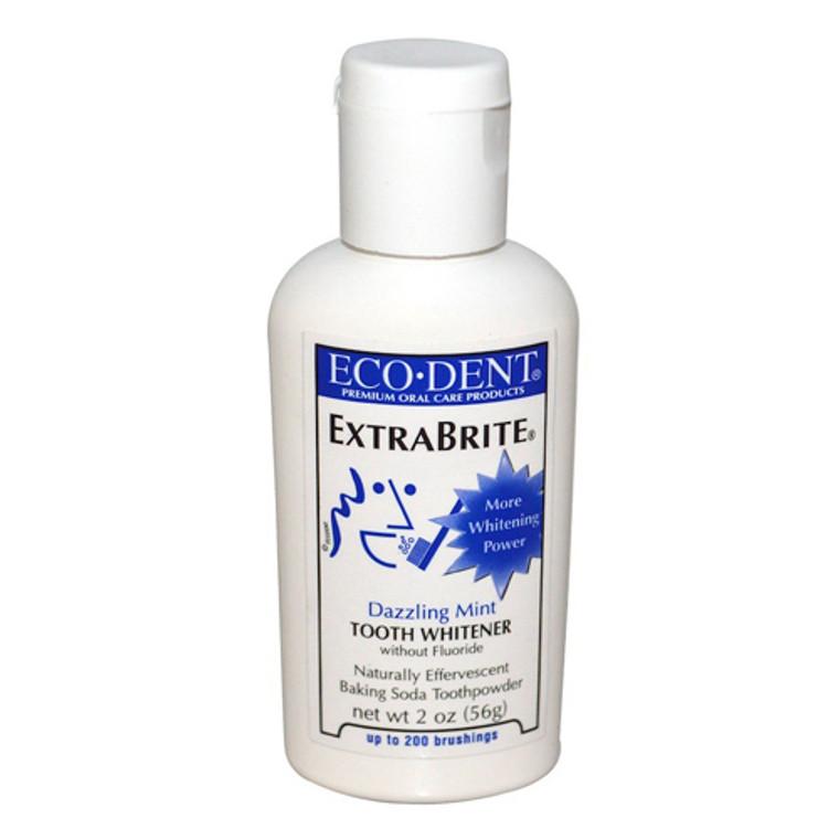 Eco-Dent Extrabrite Dazzling Mint Toothpowder, Fluoride Free - 2 oz