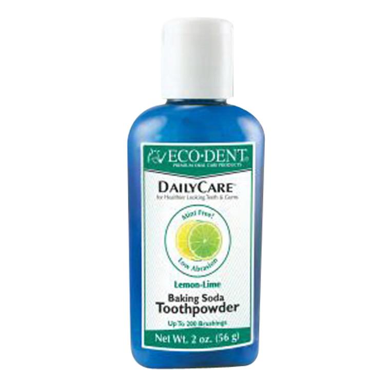 Eco-Dent Dailycare Naturally Effervescent Baking Soda Toothpowder, Lemon-Lime - 2 Oz