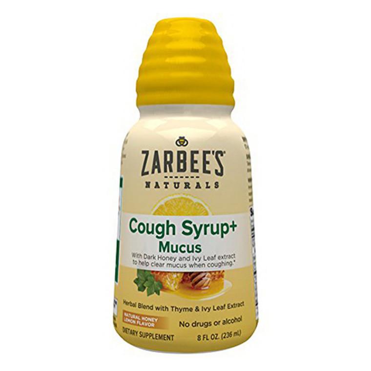 Zarbees Naturals Cough Syrup Plus Mucus Natural Honey Lemon Flavor, 8 Oz