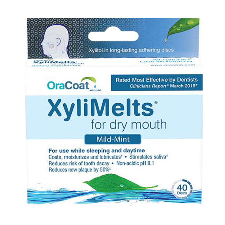 Oracoat Xylimelts For Dry Mouth Discs, Mild-Mint, 40 Ea