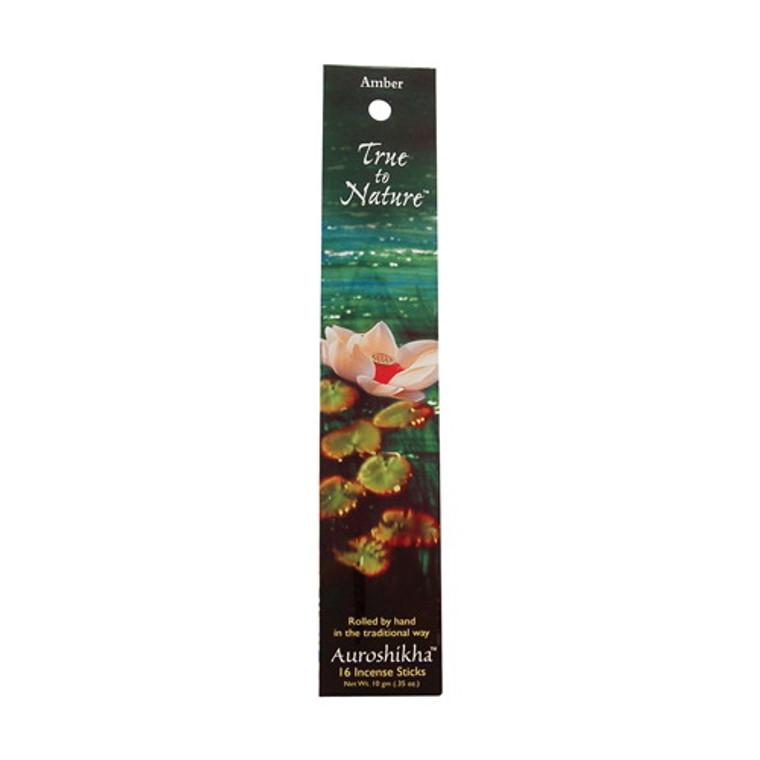 Auroshikha True To Nature Incense Sticks, Amber Essence - 10 Gm