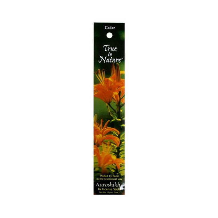 Auroshikha True To Nature Incense Sticks, Cedar Essence - 10 Gm