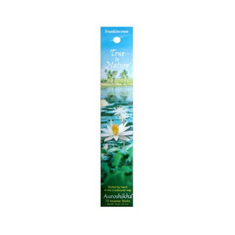 Auroshikha True To Nature Incense Sticks, Frankincense Essence, 10 Gm