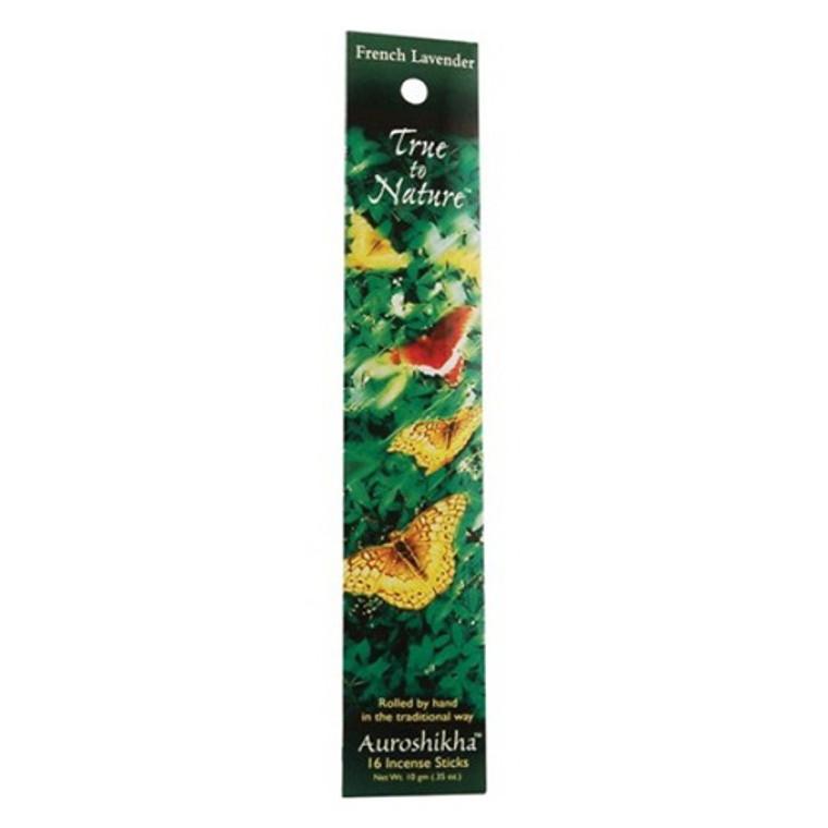 Auroshikha True To Nature Incense Sticks, French Lavender - 10 Gm