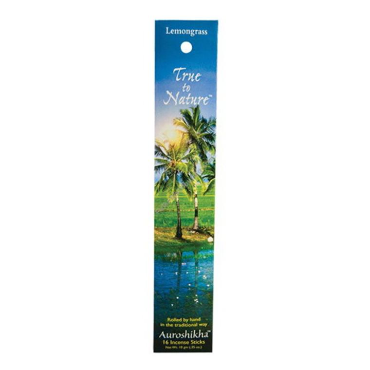 Auroshikha True To Nature Lemongrass Incense Sticks - 10 Gm