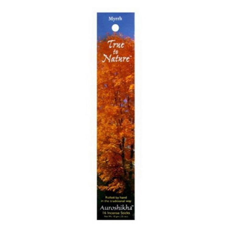 Auroshikha True To Nature Myrrh Incense Sticks - 10 Gm