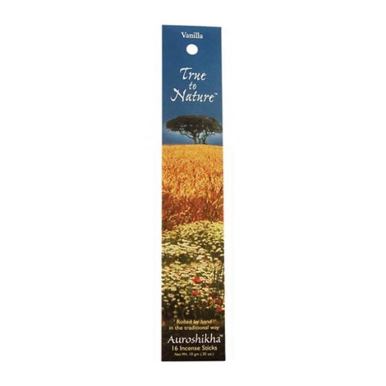 Auroshikha Incense Sticks, True To Nature Vanilla - 10 Gm