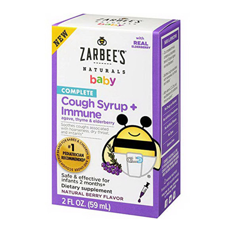 Zarbees Naturals Baby Complete Cough Syrup plus Immune, Berry Flavor, 2 Oz