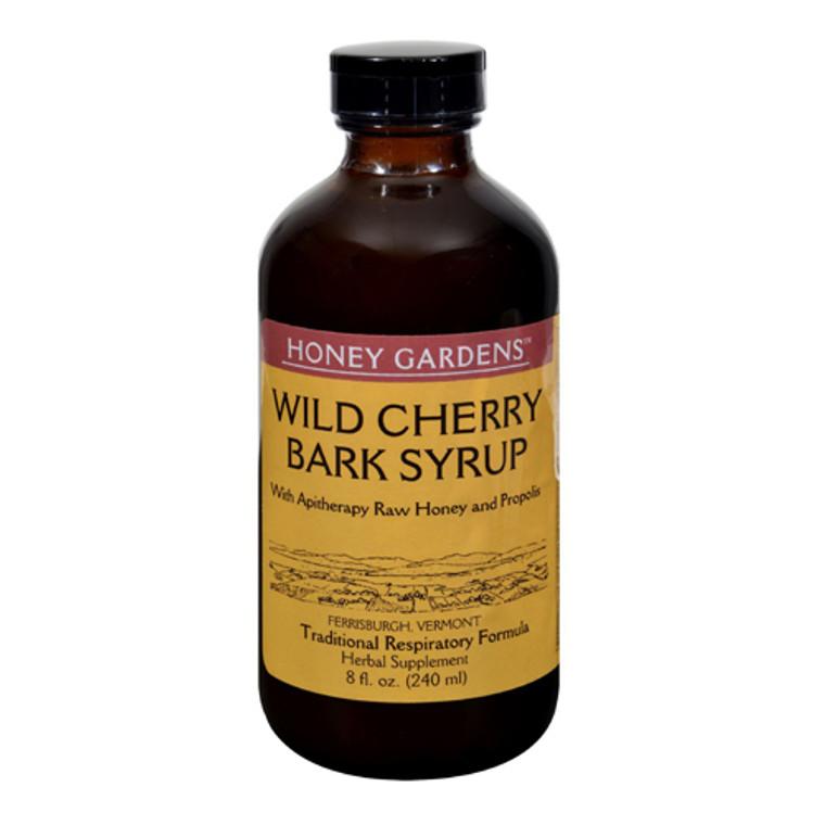 Honey Gardens Wild Cherry Bark Syrup, Traditional Respiratory Formula, 8 Oz